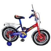 Доставка! Гарантия! велосипед Mustang Тачки,колёса 14 дюймов, красно-синий, 00000095078