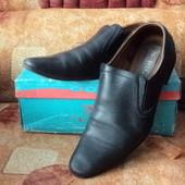 Кожаные туфли, 42р.(27,5см)