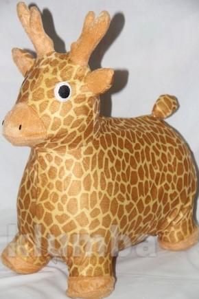 Попрыгун для детей в чехле коровка, жираф фото №1
