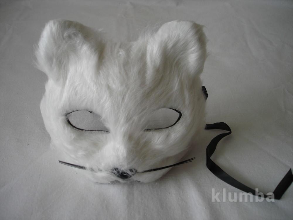Маска белый кот фото №1