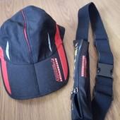 кепка и поясная сумка