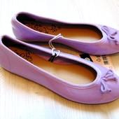 #0022. Новые стильные балетки под лаковую кожу. Esmara. Размер 39 (6)
