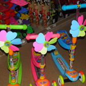 Новинка!! самокат детский с сидением Happy Scooter 925 / 466-59 розовый, Bambi (Metr+)
