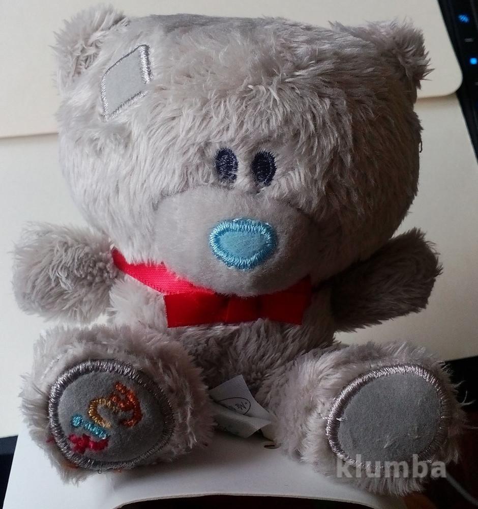 Игрушка мягкая мишка teddy, 8 см. с носочками фото №1