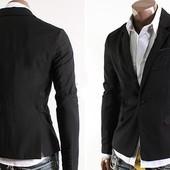 Пиджак мужской чёрный. Размеры: л, хл (2с