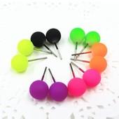 Серьги-гвоздики в форме шара