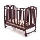 Детская кроватка Baby Care bc-435m орех