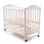 Детская кроватка Baby Care Mirabella глянцевая с ящиком слоновая кость