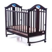 Детская кроватка Baby Care bc-433m чёрный тёмный орех