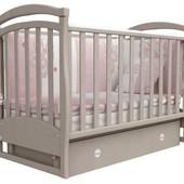Детская кроватка Верес Соня ЛД6 маятник капучино тёмная 06.23