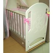 Детская кроватка Верес Соня ЛД8 слоновая кость Мишка со стразами 08.04