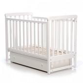 Детская кроватка Верес Соня ЛД12 маятник,ящик,лапки белая 12.1.06