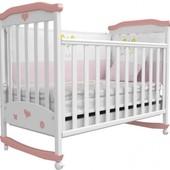 Детская кроватка Верес Соня ЛД2 бело-розовая 02.08