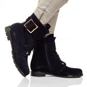 Стильные натуральные ботинки осень-зима(2214),р-ры 36-41,любой цвет!