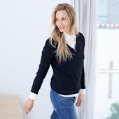 Оригинальный женский кашемировый свитер от TCM Tchibo размер 40-42,48-50 евро
