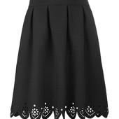 Новая юбка с лазерной перфорацией школьная форма для девочки юбочка 122р.