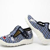 Текстильная обувь, тапочки Waldi, сменная обувь в садик, школу.