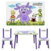 Столик детский, с двумя стульчиками Bambi M 1432, герои мультфильма Лунтик