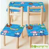 Столик детский, со стульчиками Bambi M 2754 Poli Robocar