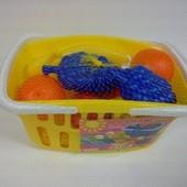 Игровой набор Toys plast Фрукты в корзинке. артикул ИП.18.001