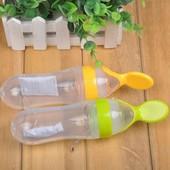 Бутылочка-приучение к ложке-цвета в ассортименте