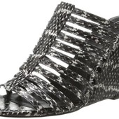 Босоножки танкетка мюли принт змея бренд Calvin Klein оригинал р. 38,5