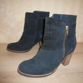 Шикарные ботинки утепленные Matalan 36-37 р 4 р 23 см замш натуральный