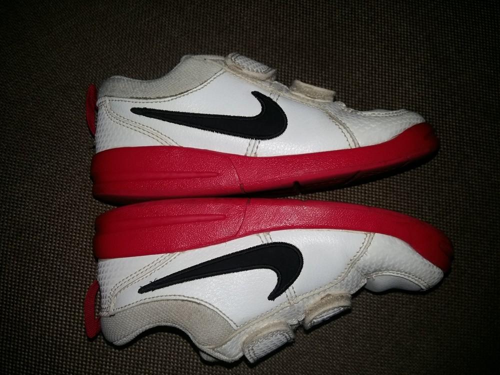 27-28 р.(18 см) adidas кожанные кроссовки - оригинал cambodia. идеальное состояние фото №7
