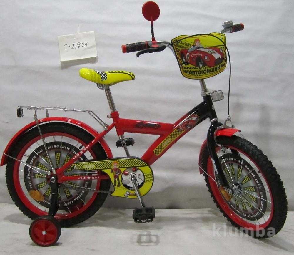 Велосипед Tilly Автогонщик 18 T-21824 red + black фото №1