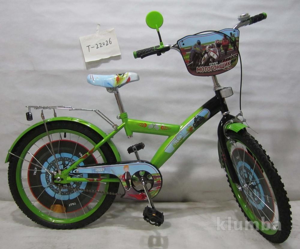 Велосипед tilly мотогонщик 20 t-22026 green + black фото №1