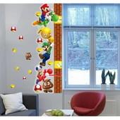 Наклейка ростомер Супер Марио и Винни Пух