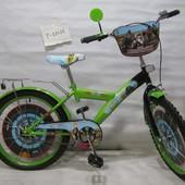 Велосипед Tilly Мотогонщик 20 T-22026 green + black