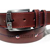 Широкий кожаный ремень Tommy Hilfiger 43мм х 120см