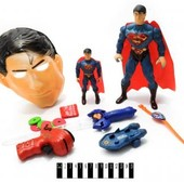 Набор супергероев, супермен. пистолет, часы, скейт, маска... артикул 1084Е