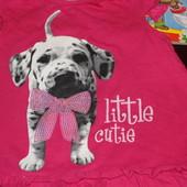 Яркая футболочка с щенком для девочки от Baby