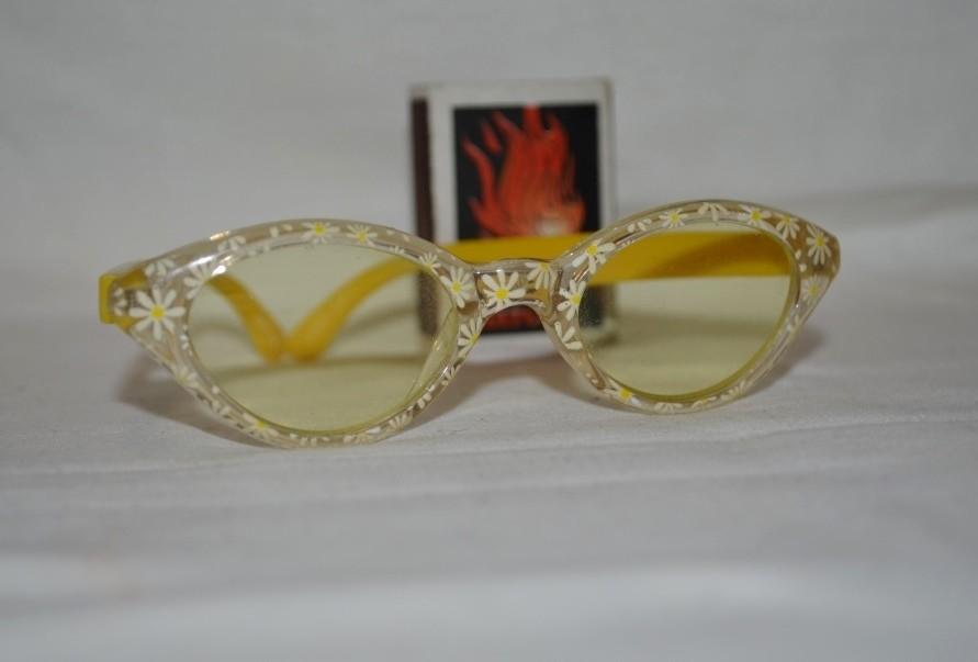 Фирменные детские очки девочке желтые ромашки фото №1