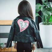 Курточка кожзам девочке