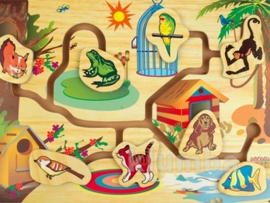 Бродилка «кто где живет», мир деревянных игрушек артикул: р57 фото №1