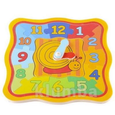 Обучающие часы-пазлы «улитка», lelin артикул: 22-049 фото №1