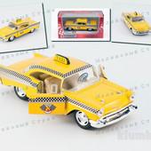 Металлическая инерционная машинка Kinsmart Taxi Chevrolet такси, kt5360w