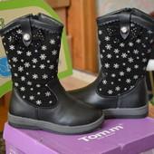 Сапожки ботинки сапоги зимние для девочки, кожа + цегейка тм Tom.m, 27-28 р том.м томм