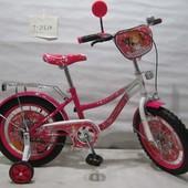 Велосипед Tilly Звездочка 16 T-21624 crimson + white