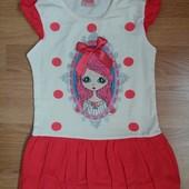 Красивое платье ТМ Primax (Турция) 100% коттон на девочку 3 -5лет.