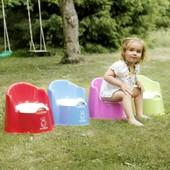 Швеция Горшок BabyBjorn Potty Chair, цвет зеленый и синий