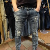 Фирменные джинсы Турция с манжетами