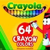 Восковые карандаши крайола crayola 64, 96, 120 шт