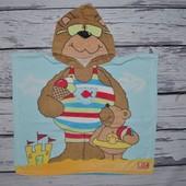 Фирменное Детское полотенце пончо Медведь Медвежонок