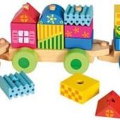 Поезд с кубиками, Bino Артикул: 82142