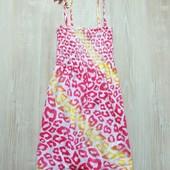 Яркий летний сарафан в леопардовый принт для девочки. Matalan. Размер 10-11 лет