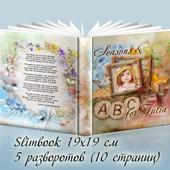 Шаблон №4 Seasons & ABC Фотокнига с английской азбукой и временами года